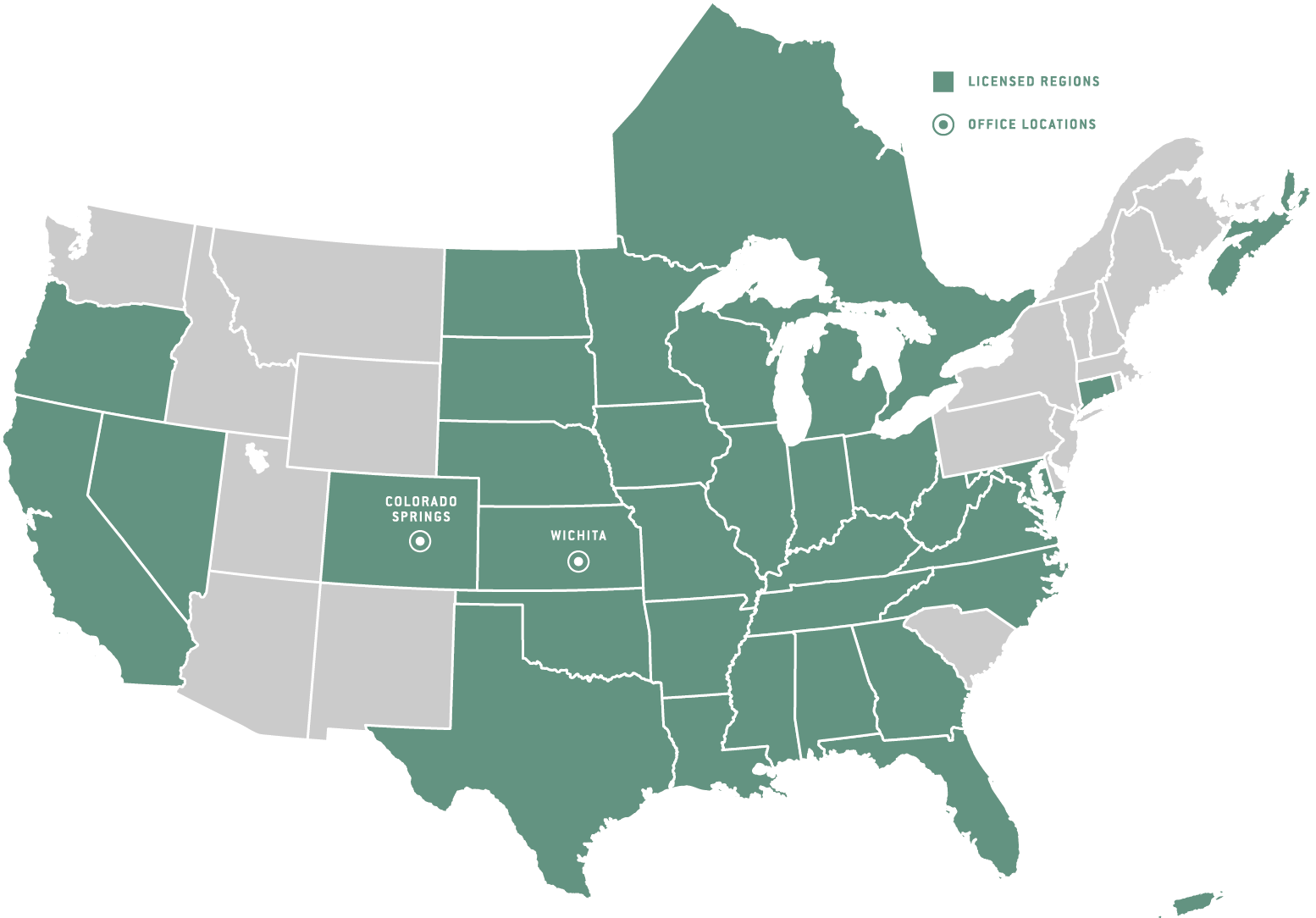 Licensed Regions Map